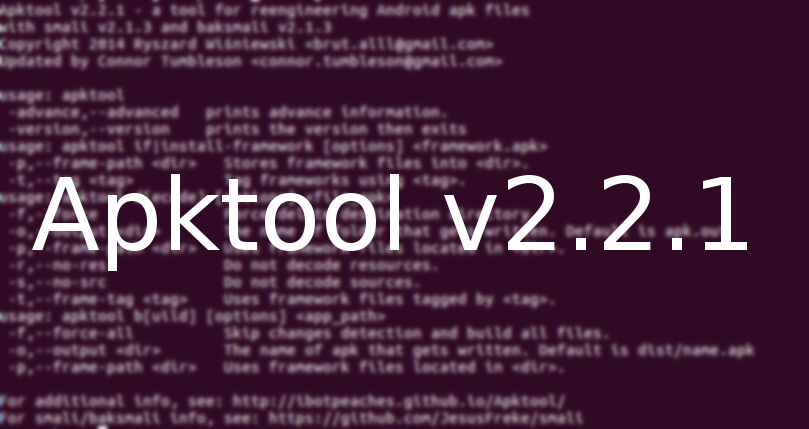 Apktool v2 2 1 Released