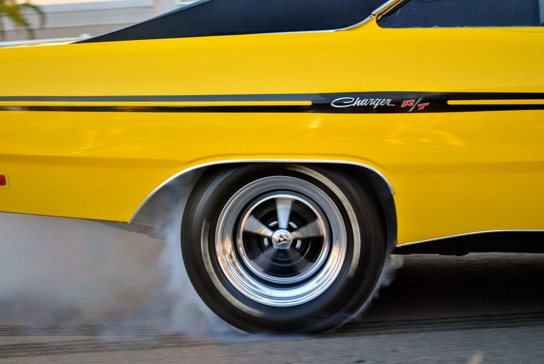 yellow Dodge Charger